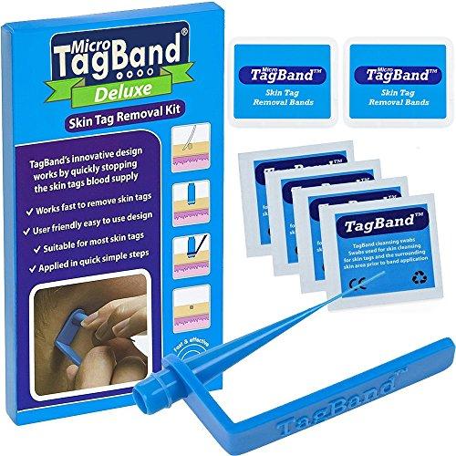 Kit para eliminar verrugas de TagBand, con bandas extra y caja