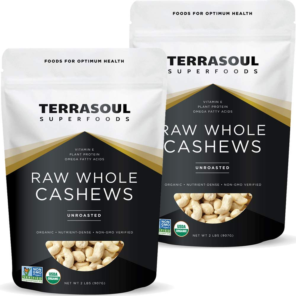 Terrasoul Product Superfoods Organic Raw Free shipping on posting reviews Pounds Cashews Whole 4