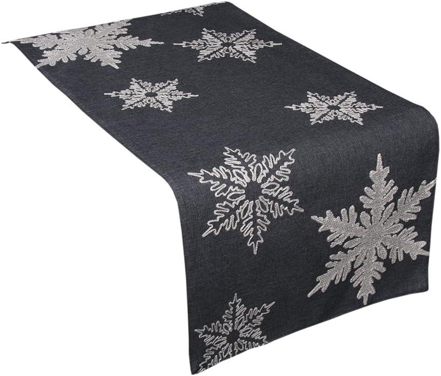 Xia Home Max 58% OFF Tucson Mall Fashions XD17141 Snowflake Christma Embroidered Glisten