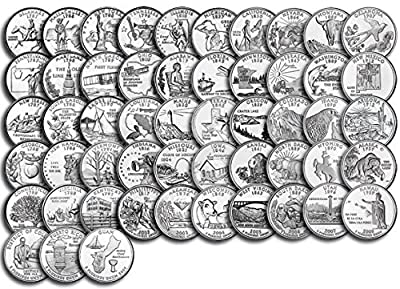 1999 P, D Complete 1999 thru 2009 P&D 112-coin B.U. State Quarter Set Uncirculated