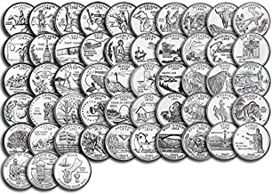 1999 P, D Complete 1999 thru 2009 P&D 112-coin B.U. State Quarter Set Uncirculated