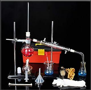 Lchzl 24pcs Nouveau Laboratoire Huile Essentielle Distillation Appareil Distillateur deau Purificateur Kits Verrerie w//Tuyau condenseur Erlenmeyer