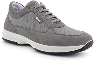 IGI&CO Sneaker Uomo in Scamosciato E Tessuto Grigio Art. 7119111