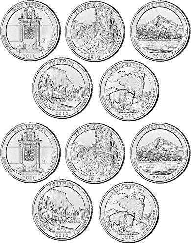 2010 National Parks Set P&D Mint (10 Coins) Uncirculated