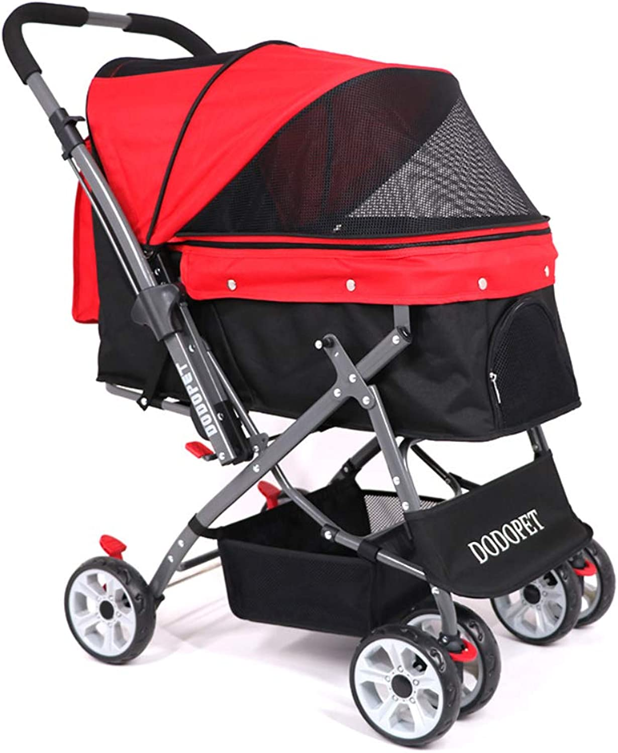 DODOPET Pet Strollers Large Space Cat And Dog, Foldable Cart, Outing Supplies, Load Capacity 25Kg   55Lbs