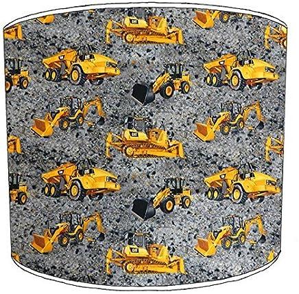 20,3 cm Premier Lampshades 20,3/cm Plafond Digger Tracteur Camion JCB Abat-Jour imprim/é 7