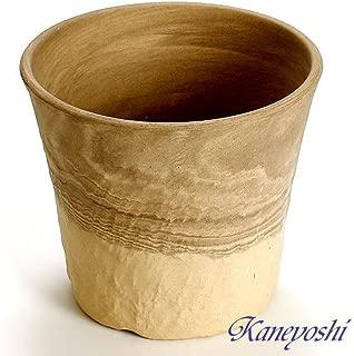 鉢 三河焼 KANEYOSHI 【日本製/安心の国産品質】 陶器 植木鉢 三河焼 ロックガーデン カプチ 6号