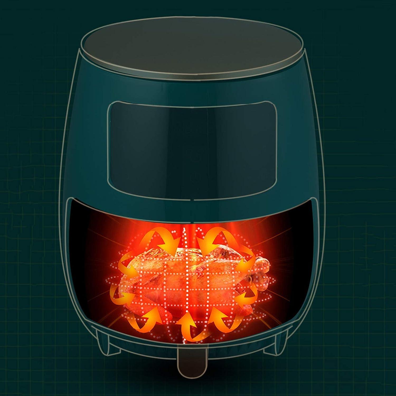 IMFFSE sans fumée Air Fryer, 8 préréglages Menu Air Fryer avec Panneau de LED, Oilless Cuisinière 1500W Air Fryer Four antiadhésives Amovible Panier,Noir Red