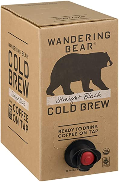 Wandering Bear Organic Cold Brew Coffee On Tap Straight Black No Sugar Always Fresh And Ready To Drink Not A Concentrate 96 Fl Oz