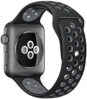 Compatible for Apple Watch Band 38mm 40mm 42mm 44mm,Soft Silicone Sport Band Replacement Wrist Strap Compatible for iWatch...