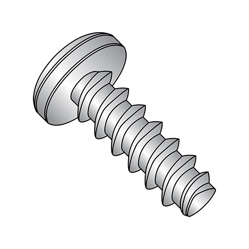 18-8 Stainless Steel Thread Rolling Screw for Plastic, Passivated Finish, Pan Head, Phillips Drive, #4-20 Thread Size, 1/2