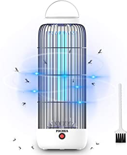 FOCHEA Lámpara Anti Mosquitos, 12W 60m² UV Mata Mosquitos Electrico, Mata Insectos Electrico de...