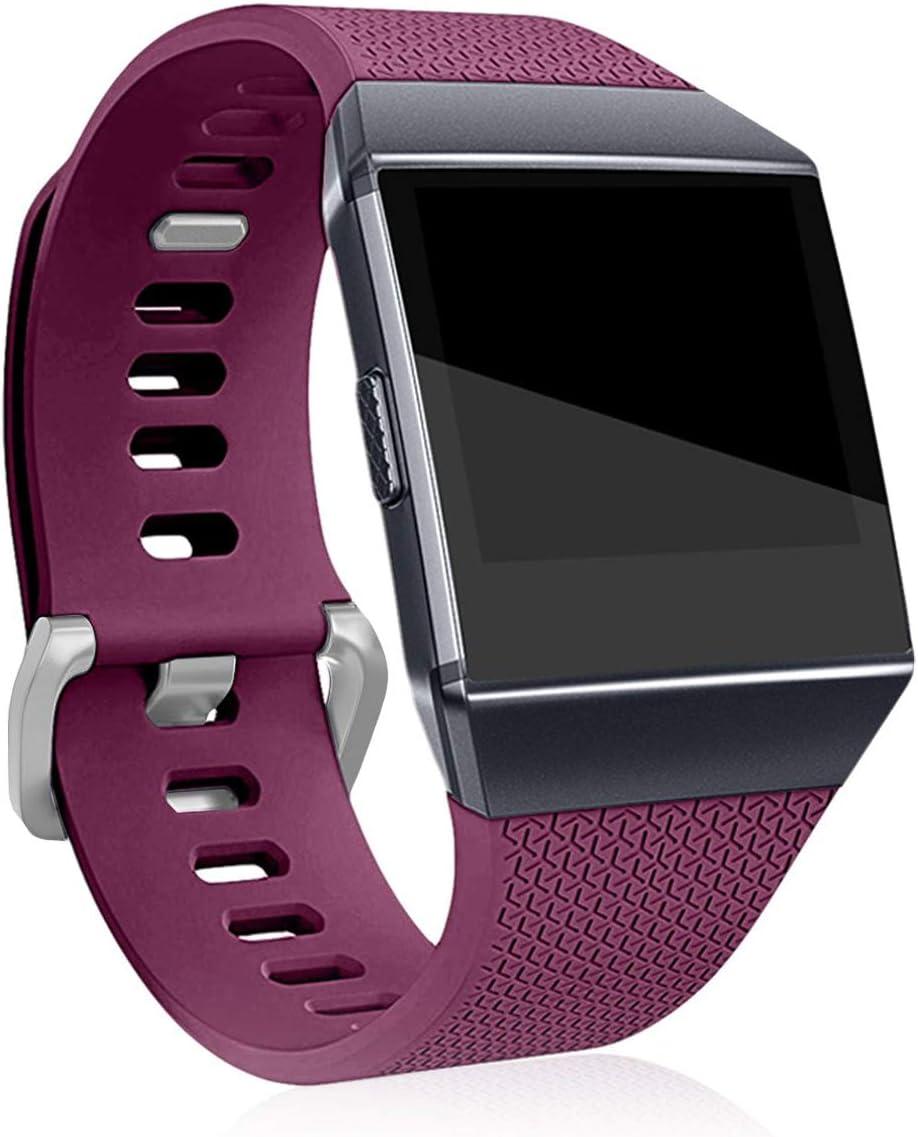 malla Para Reloj Fitbit Ionic Smartwatch (talle S, fucsia)