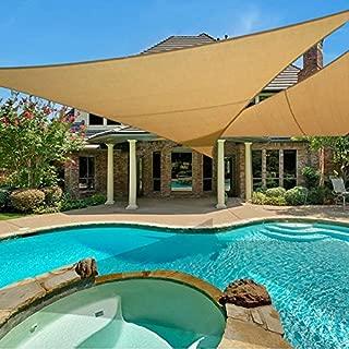 e.share 20' X 20' X 20' Sun Shade Sail Uv Top Outdoor Canopy Patio Lawn Triangle Beige Tan Desert Sand …