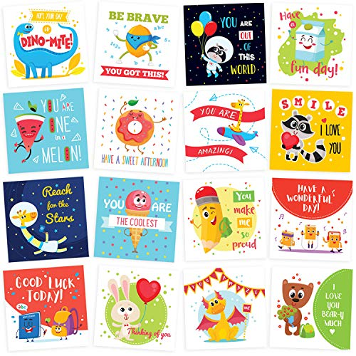 Lunch Box Notes for Kids - 60 Cute Inspirational and Motivational Thinking of You Cards