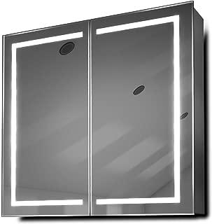 DIAMOND X COLLECTION Talia LED Bathroom Mirror Cabinet with Demister Pad, Sensor & Shaver k362