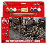 Airfix A55210 1:32 Scale WWII German Infantry Multipose Starter Gift Set