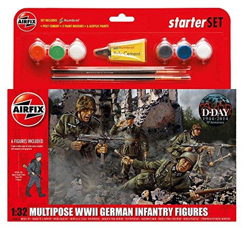 Airfix A55210 1/32 WWII German Infantry Multipose Starter Set Modellbausatz