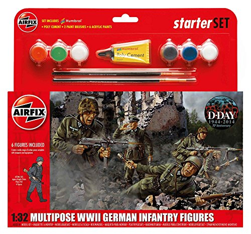 Airfix A55210 1/32 WWII German Infantry Multipose Starter Set Modellbausatz