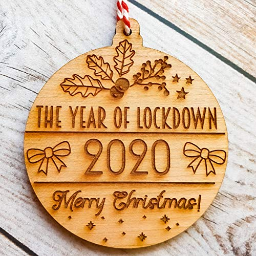 Cherry 2020 Christmas Tree Decoration Bauble Lockdown Family Gift Ornament