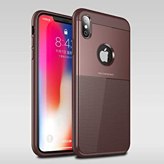 SHUANGRUIYUAN PC + TPU Unseeable Airbag Shockproof Protective Case for iPhone Xs Max (Color : Brown)