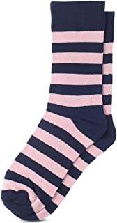 College Stripe Cotton Dress Socks