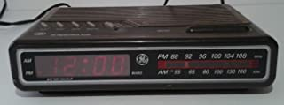 Vintage 80s GE Digital Alarm Clock AM FM Radio Model 7-4612A Woodgrain