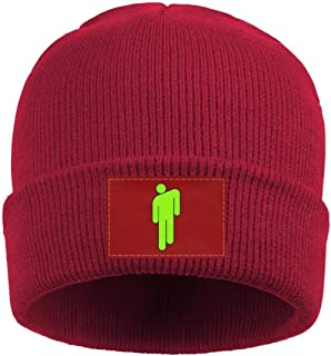 HOPAPALA Billie-Eilish- Wool Cuffed Plain Beanie Warm Winter Hats Watch Skull Cap for Men Women