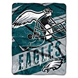 Officially Licensed NFL Philadelphia Eagles 'Deep Slant' Micro Raschel Throw Blanket, 46' x 60', Multi Color