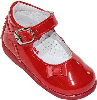 LEON ANDANENE Zapato Casual Vestir NIÑA Rojo Charol 5387