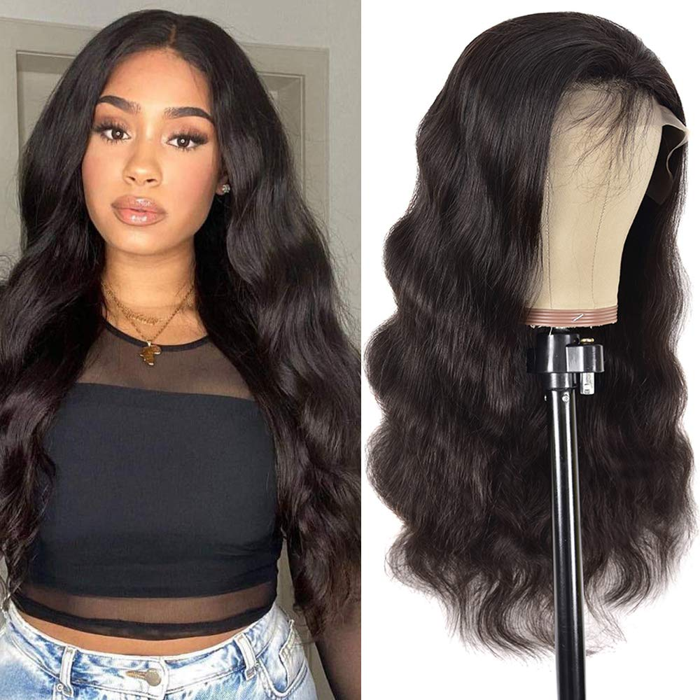 Body Wave Lace Frontal Human Hair 150% Black Max 81% OFF Dens Women For Wigs free shipping
