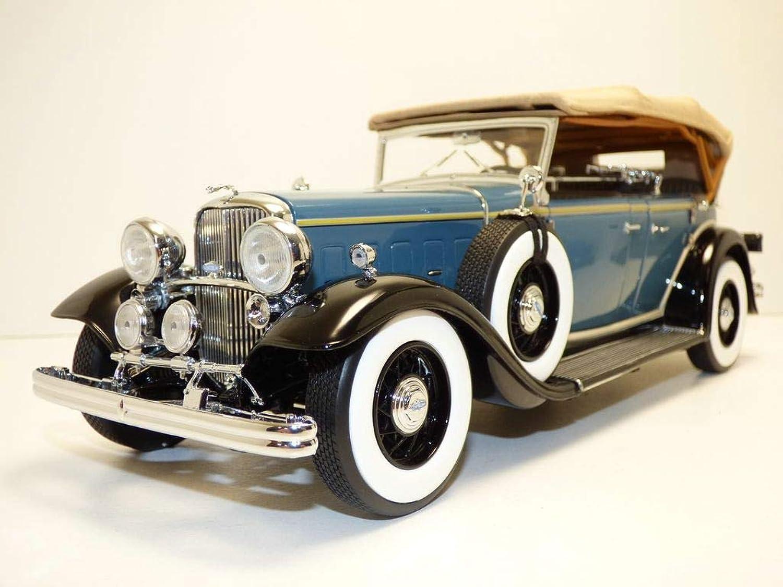 Ford Lincoln KB Softtop geschlossen 1933 blau schwarz, Modellauto 1 18   Sun Star