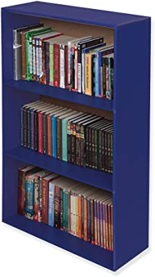 """Classroom Keepers Upright Bookcase, Blue, 38-5/8""""H x 24-5/8""""W x 10-1/2""""D"""