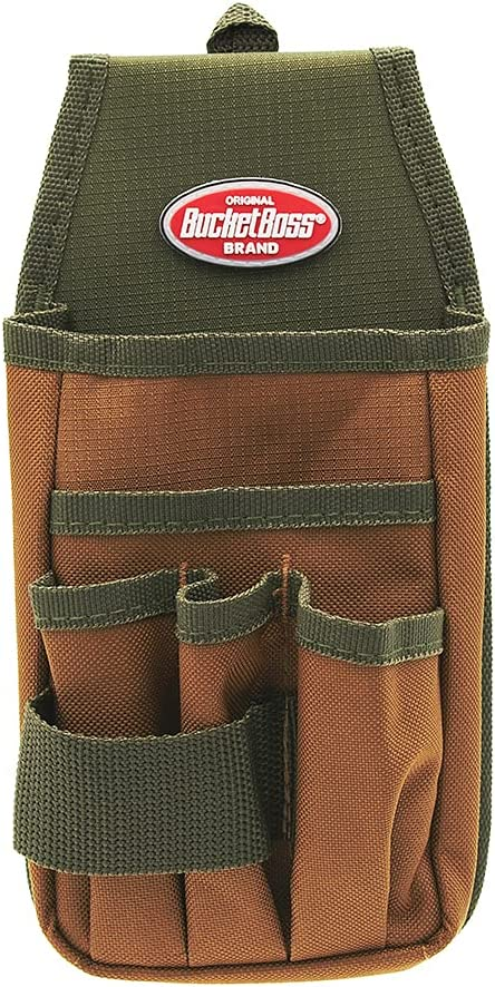 Bucket Boss - Utility Pouch with FlapFit, Pouches - Original Series (54170), Brown - Tool Pouches -
