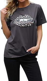 BMJL Women's Graphic Tees Summer Cute Tops Short Sleeve T Shirt Casual Blouse