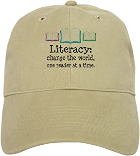 size 40 9b517 b95ae CafePress - Literacy Reading Quote - Baseball Cap with Adjustable Closure,  Unique Printed Baseball Hat
