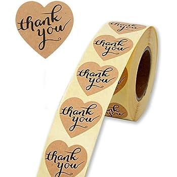 Grazie Adesivi Rotolo Fai da Te Decorativo Adesivo 500 Thank You Floreale Autoadesivo Etichette Round Baking Sticker kraft etichette adesive