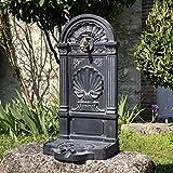 chemin_de_campagne Fontaine de Jardin en Fonte Fontaine Extérieur Grise 83 cm x 40 cm x 33 cm