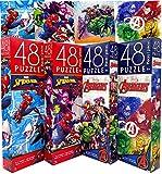 Marvel Superheroes Avengers & Spiderman Jigsaw Tower Puzzle Set, Pack of 4 (Total 192pcs) - Preschool Educational Toys Healthy Brain Development for Kids Girls Boys by Cardinal