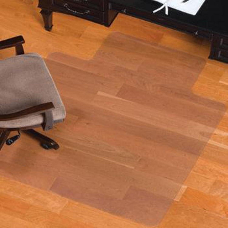 Wood Floor Predector Cushions Office Chair Transparent PVC mat add Hard Non-Slip mat-A 90x120cm(35x47inch)