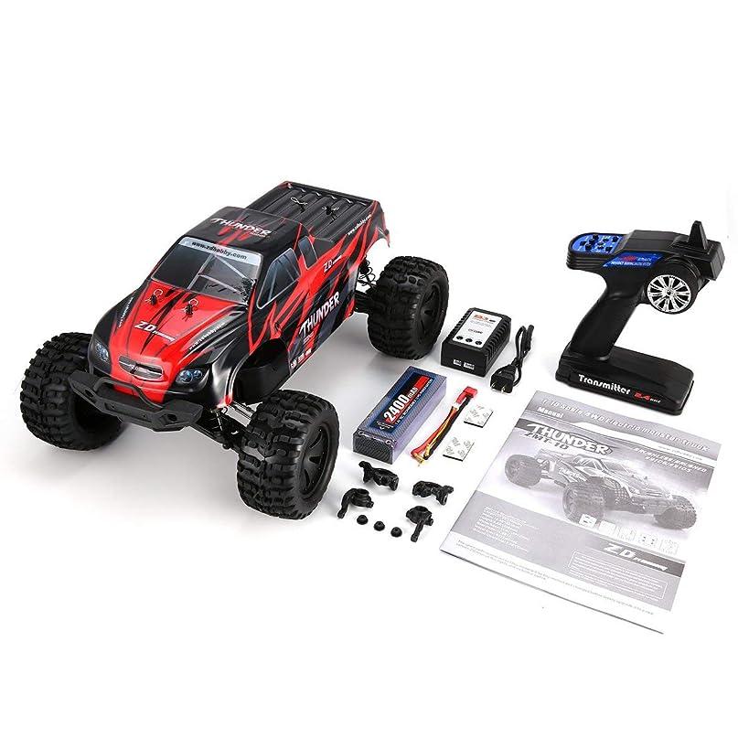 章具体的に優れましたMolySun ラジコンカー ZD 競技可能 9106-S 1/10 Thunder 四輪駆動 ブラシレスモーター 70KM/h 競技可能 電動rcカー 車 大型タイヤ バギー トラック RTR 子供おもちゃ リモコンカー 車両 操作簡単 赤、黒