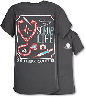 Southern Couture SC Classic Scrub Life Womens Classic Fit T-Shirt - Charcoal