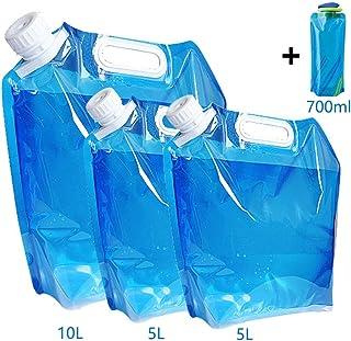 Dutison Compressible Conteneur d/'eau 5 L 10 L 15 L portable pliable eau transporteur
