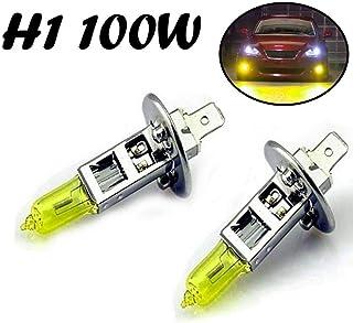 2x H1 100W 12V Aqua Vision Gelb Yellow Quarz Halogen Lampen