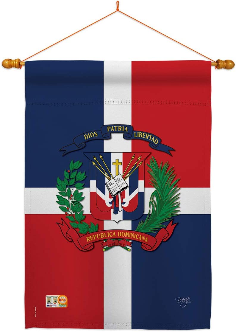 Nationality Dominican Republic House Flag Set Regional Nation International World Country Particular Area Small Decorative Gift Yard Banner Made In Usa 28 X 40 Garden Outdoor