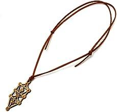 セフィロトの樹 神聖幾何学模様 木製 ネックレス オリジナル ウッド ペンダント 生命の樹 創造 ツリーオブライフ (ブラウン)