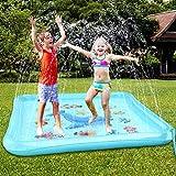 Baztoy Splash Pad, Kinder Spielzeug Wasser Sprinkler Matte Wasserspielmatte Sommer Wasserspielzeug Outdoor Spielzeug Wassermatte Geschenk für Baby Junge Mädchen Pool Party Garten Spiele...