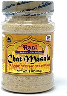 Rani Chat Masala (14-Spice Blend) Tangy Indian Seasoning 3oz (85g) ~ All Natural, No MSG! | Vegan | No Colors | Gluten Free Ingredients | NON-GMO | Indian Origin