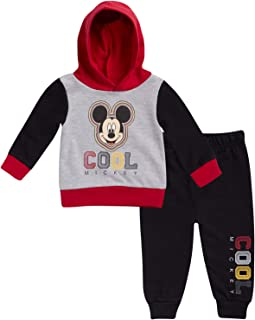 Baby Boys Mickey Mouse Hoodie and Pant Set (Newborn and Infant)