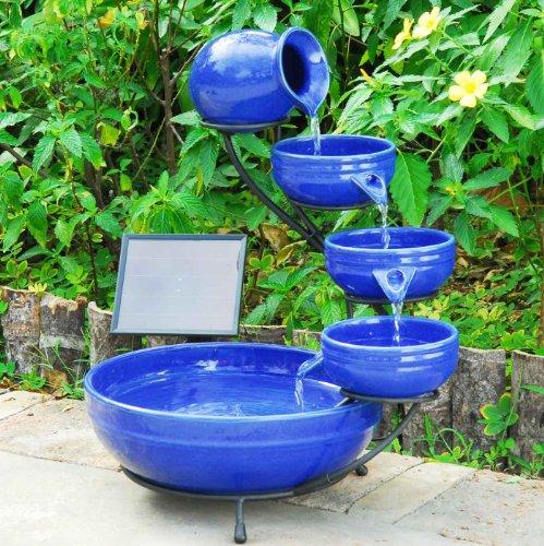 Sunny fountains P 004 C Solar Cascade Fountain Ceramic Blue